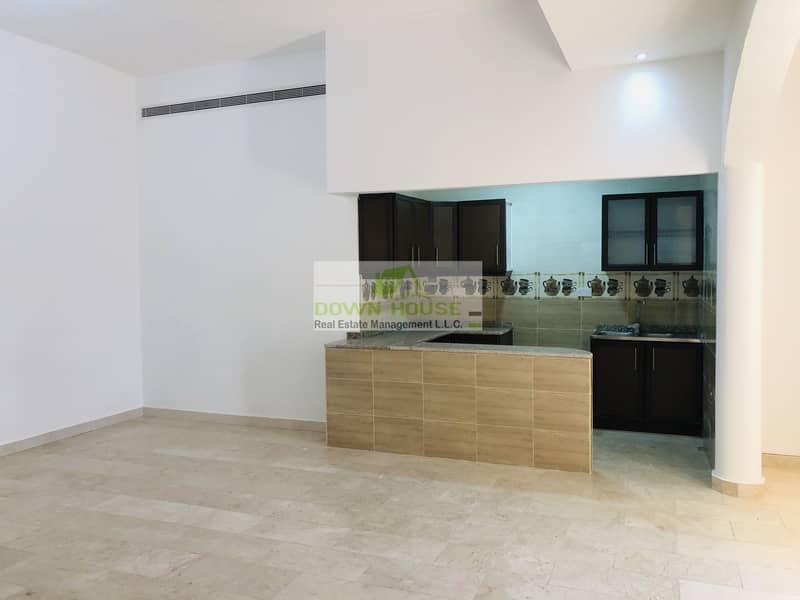 First floor big one bedroom hall with balcony for rent Khalifa city