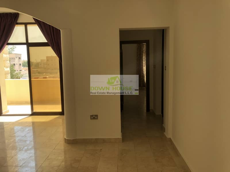 2 First floor big one bedroom hall with balcony for rent Khalifa city