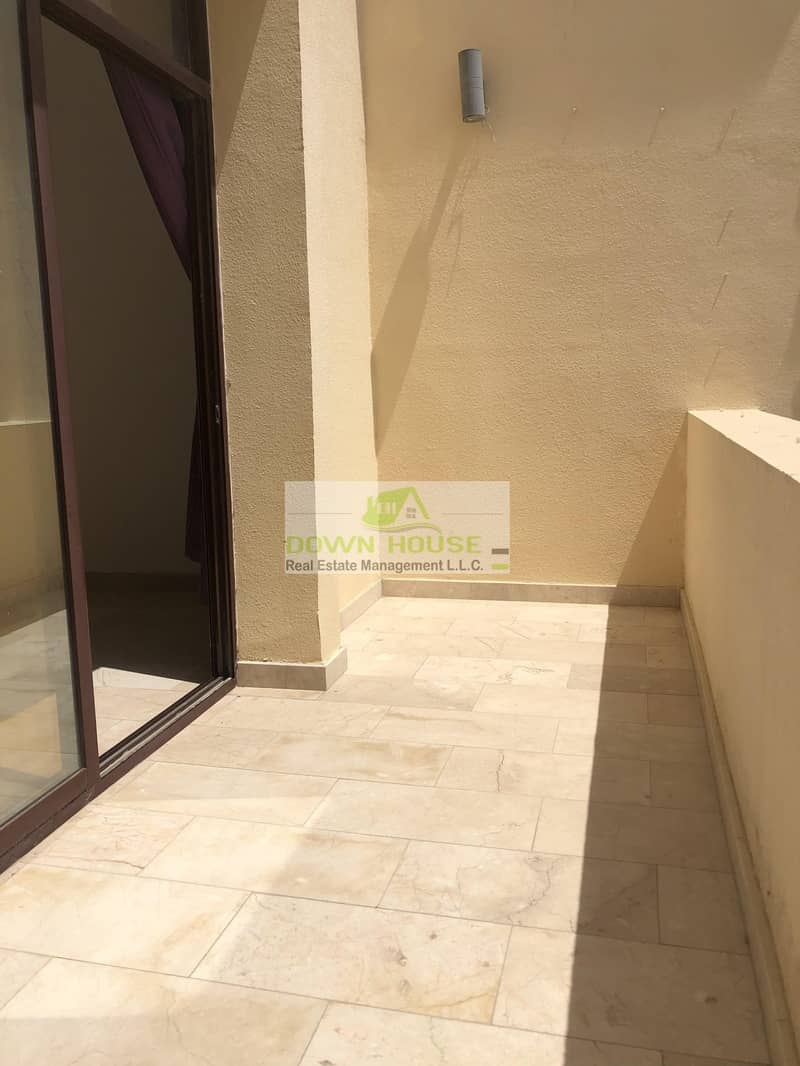 19 First floor big one bedroom hall with balcony for rent Khalifa city