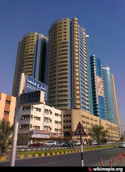 2 Bedroom Apartment for Sale in Ajman Downtown, Ajman - Full Open View two balconies Two BHK for sale in Horizon Tower A with parking