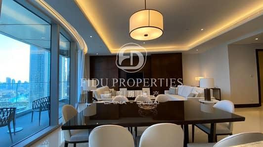 شقة 3 غرف نوم للايجار في وسط مدينة دبي، دبي - Brand New | Corner Unit | Full Buj Khalifa View