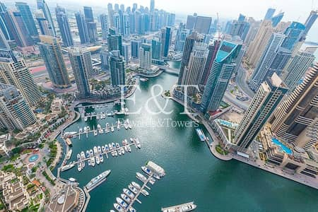 3 Bedroom Apartment for Sale in Dubai Marina, Dubai - Luxury Furnished | Panoramic Marina and Sea View