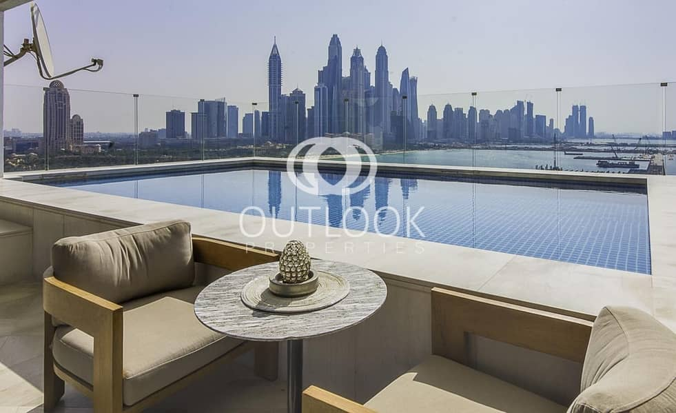 2 Upgraded Penthouse | Private Pool | Private Beach