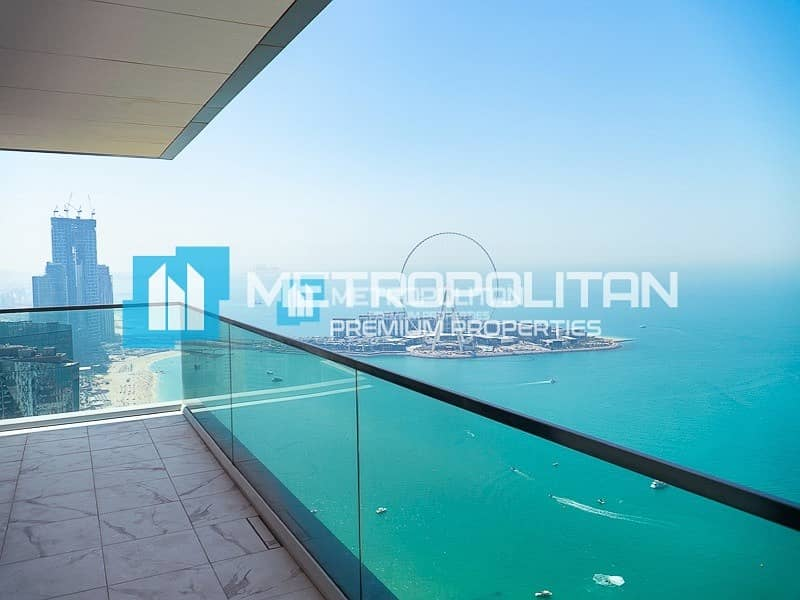 Amazing sea view with a private lobby in 1 JBR