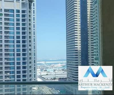 1 Bedroom Flat for Rent in Dubai Marina, Dubai - Full Sea View | High Floor | Huge 1Br - Dubai Marina
