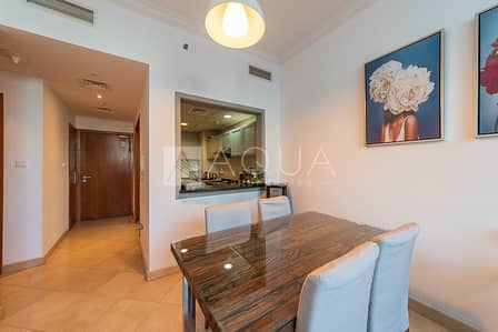 1 Bedroom Apartment for Rent in Dubai Marina, Dubai - Maintained | Furnished Unit | With Balcony