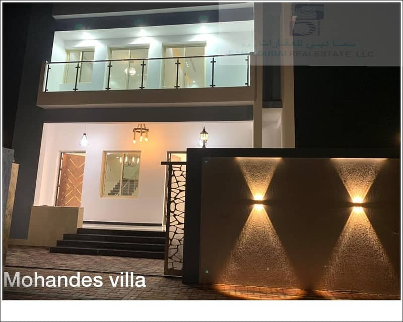 new modern villa for sale with very nice finishing in ajman