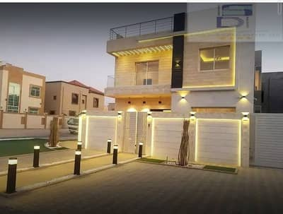 6 Bedroom Villa for Sale in Al Mowaihat, Ajman - Modern design villa   Excellent location Fourth villa from Sheikh Ammar