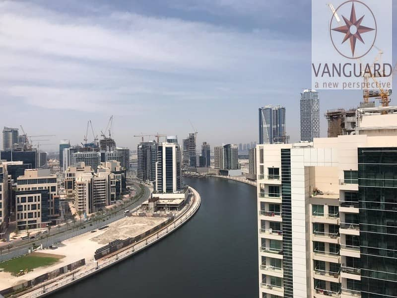 Fully Upgraded 2Br+Study Canal View in Business Bay