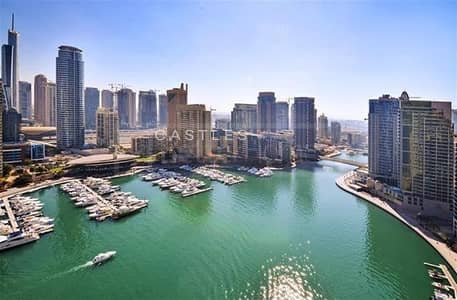 3 Bedroom Apartment for Rent in Dubai Marina, Dubai - Spacious & Bright 3BR with amazing full marina view - Vacant in July