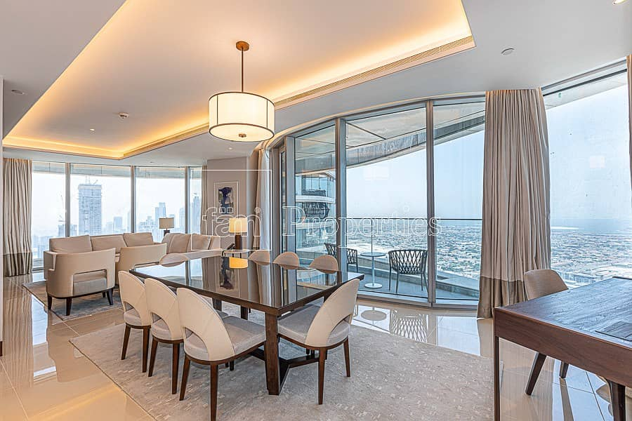 Sky Collection! Furnished 4BR+Maid Sky View