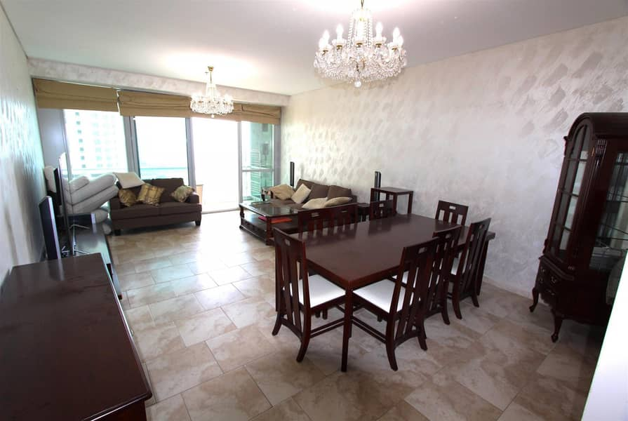 Fully furnished 3BR+M | Sea view