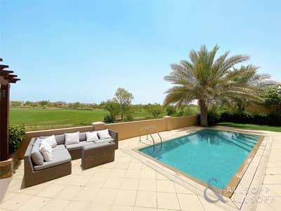 فیلا 5 غرف نوم للايجار في عقارات جميرا للجولف، دبي - Oakmont | Square Pool | Earth+Fire Golf View