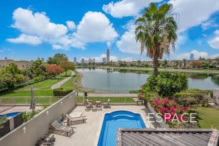 فیلا 3 غرف نوم للبيع في الينابيع، دبي - Upgraded Full Lake View 3M with Private Pool