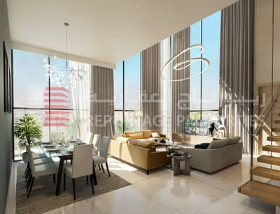 4 Bedroom Penthouse for Sale in Al Maryah Island, Abu Dhabi - BREATHTAKING PENTHOUSE WITH MAID ROOM IN AL MARYAH ISLAND WITH A VIEW OF THE POOL