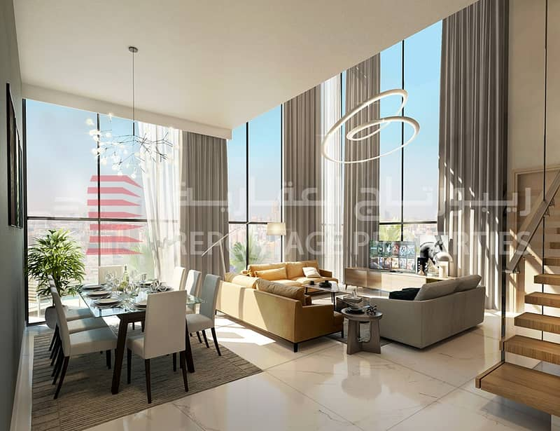 BREATHTAKING PENTHOUSE WITH MAID ROOM IN AL MARYAH ISLAND WITH A VIEW OF THE POOL
