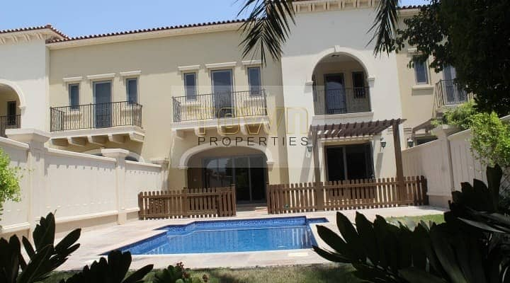 Single Row with Private Pool|With Rent refund