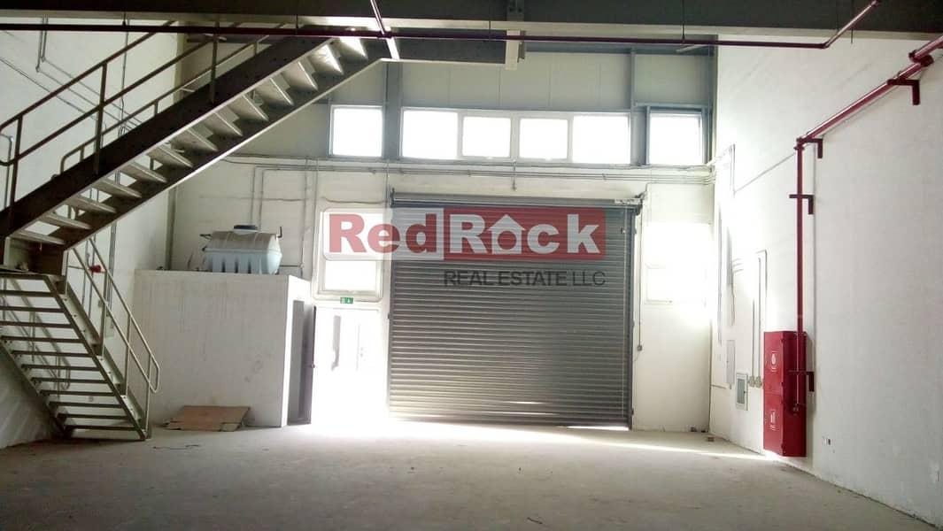 Aed 21/Sqft for 3018 Sqft Warehouse with Mezzanine in Jebel Ali
