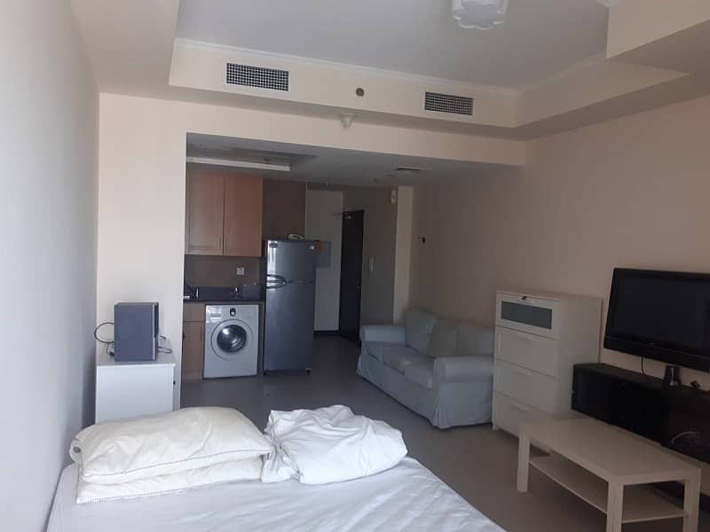 1 Furnished Studio with Balcony and parking