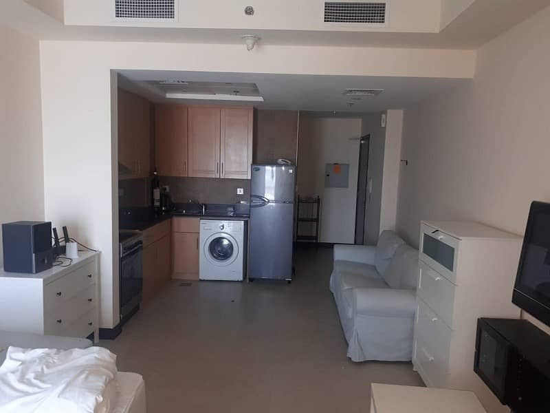 2 Furnished Studio with Balcony and parking