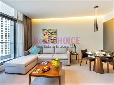 1 Bedroom Hotel Apartment for Rent in Dubai Marina, Dubai - Prime Location|Fully Furnished 1BR Hotel Apartment