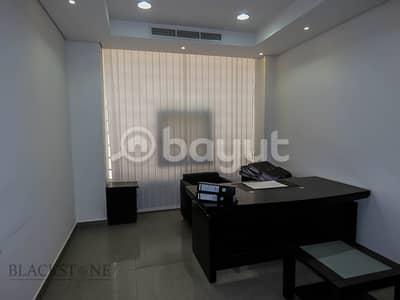 مکتب  للايجار في الكرامة، دبي - Spacious Fully Furnished Office for Rent with Partitions