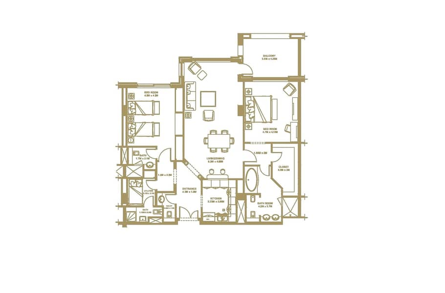 10 2 Bed + Maids | Double Balcony | Vacant