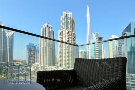 2 Bedroom Apartment for Rent in Downtown Dubai, Dubai - Low Floor | Study | Multiple Cheque | Available Now