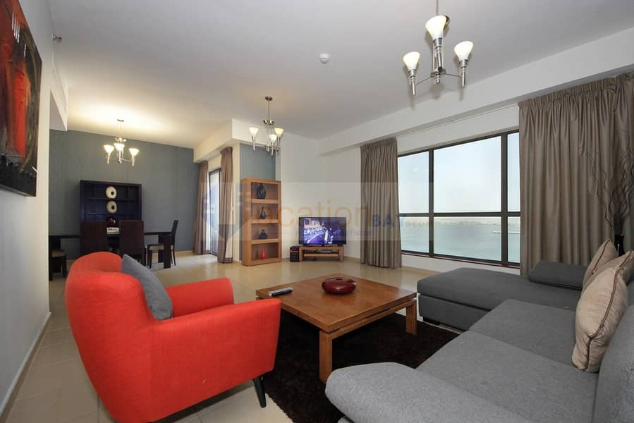 2 Perfect Sea View Luxury 3BR With Maids Room