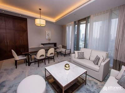 2 Bedroom Flat for Rent in Downtown Dubai, Dubai - Fully serviced and furnished apartment with a view
