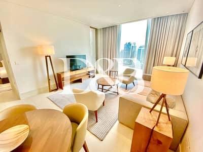 فلیٹ 1 غرفة نوم للايجار في وسط مدينة دبي، دبي - Serviced Fully Furnished I High Floor I Quiet