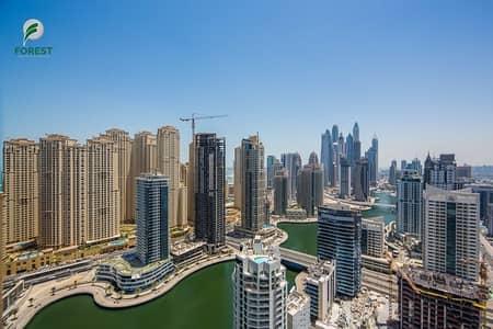 استوديو  للايجار في دبي مارينا، دبي - Full Marina View | All Bills Included | Best Price