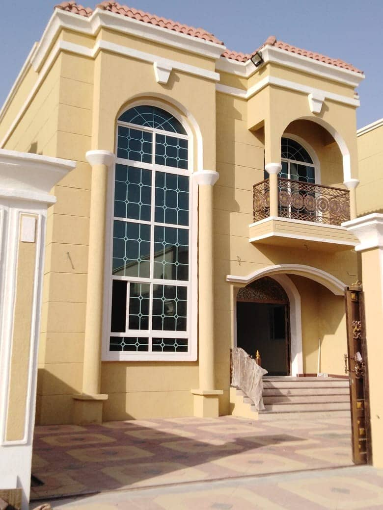 For sale, one of the most luxurious and finest villas in Ajman market, with finishes in Arabic architecture design, with the best finishes and modern modern decorations, at a very excellent price.