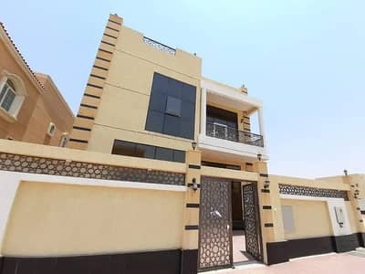 Villa for sale without down payment, personal building, super deluxe close to Sheikh Mohammed Bin Zayed Road, free forever for all nationalities 100%