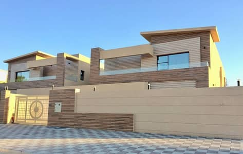 With all the banking facilities, a villa of the best modern finishes, new, first inhabitant, in a very good location, near Sheikh Mohammed bin Zayed Street, without commission from the buyer, and the price is negotiable.
