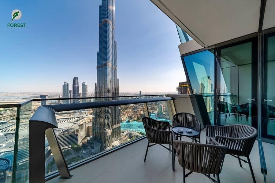 Iconic Burj - Fountain Views | Furnished 3BR Apt