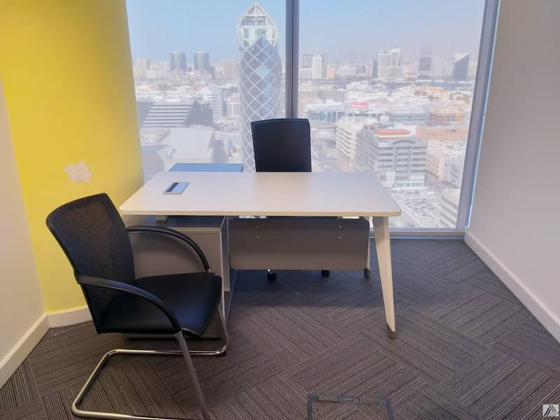 2 Brand New Customized Smart Private Offices at Burjuman Business Tower Linked with Metro With View