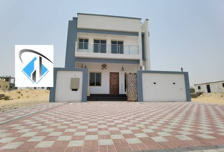 3 Bedroom Villa for Sale in Al Helio, Ajman - brand new villa with excellent finishing on the main road freehold for all nationalities .