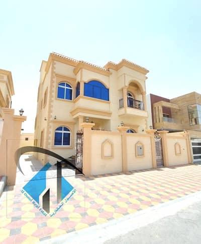 فیلا 5 غرف نوم للبيع في الياسمين، عجمان - فيلا جديده للبيع علي شارع رئيسي اسفلت وتشطيب سوبر ديلوكس وسعر ممتاز