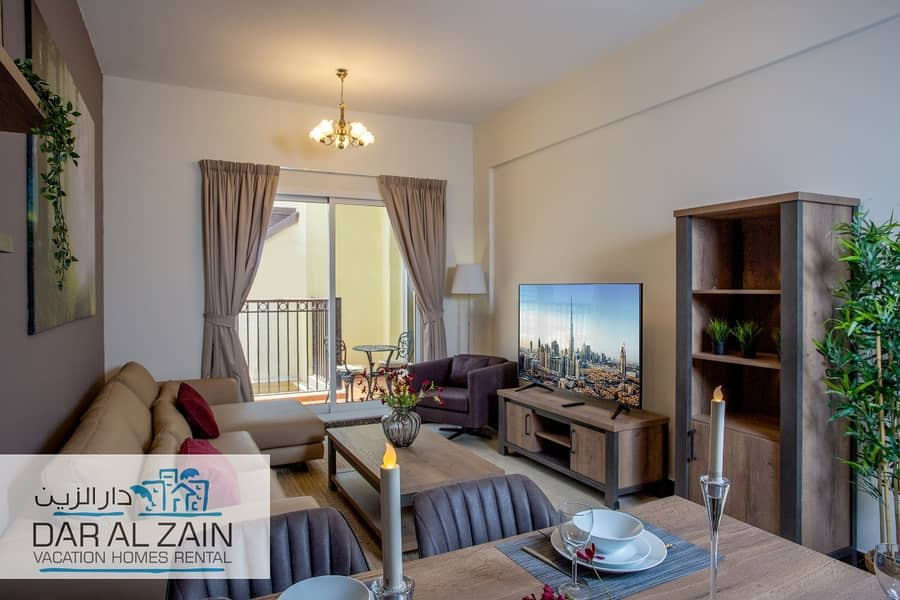 1 FULLY FURNISHED TWO BEDROOM  APARTMENT