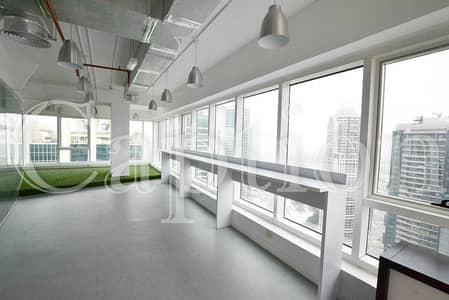 مکتب  للايجار في أبراج بحيرات الجميرا، دبي - Top Floor | Building at the Metro station | Amazing views