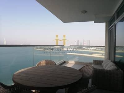 شقة 2 غرفة نوم للايجار في نخلة جميرا، دبي - Fully Furnished with Panoramic sea view