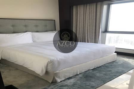 1 Bedroom Flat for Rent in Downtown Dubai, Dubai - Fully Furnished 1BR | Service Apartment- All Inclusive | Burj Khalifa View