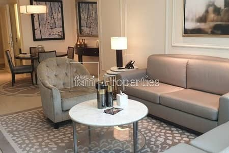 1 Bedroom Apartment for Rent in Downtown Dubai, Dubai - Spectacular View of Fountain and Burj