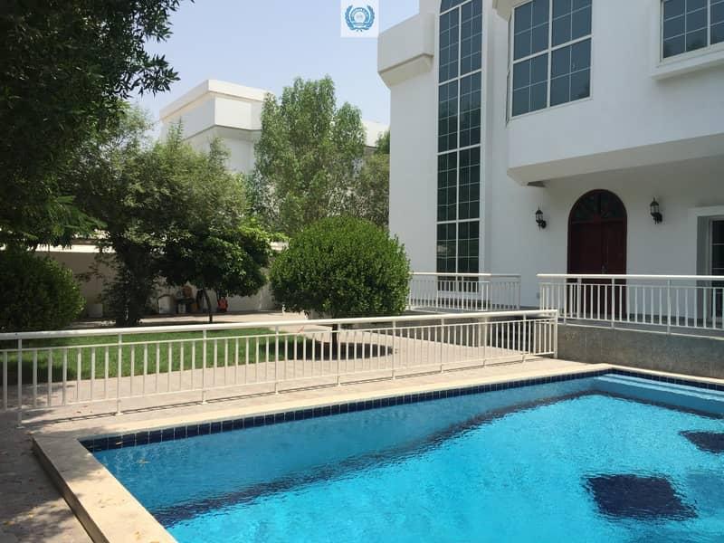 2 Elegant Five Master Bedroom Villa  With Private  Pool & Garden In  Al Falaj