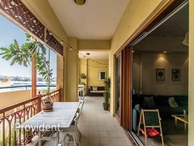 شقة 2 غرفة نوم للايجار في نخلة جميرا، دبي - Large Terrace | Sea View | Direct Access To Pool