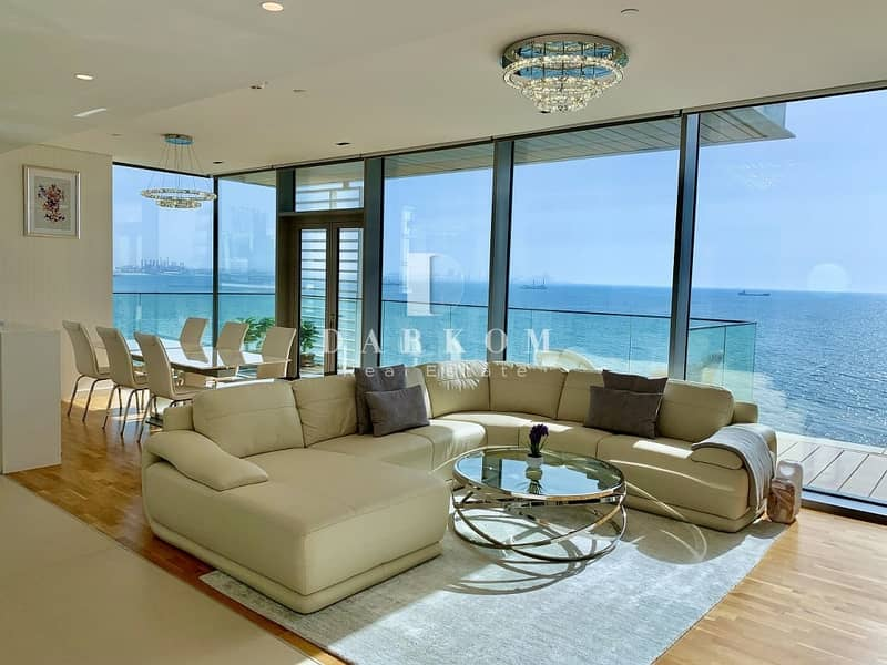 2 Breathtaking! 4 BR Full Sea View | Bluewaters Residence Bldg 2