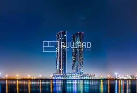 Office for Sale in Dafan Al Nakheel, Ras Al Khaimah - Sea view | Office for Sale in Julphar Towers, Ras Al Khaimah