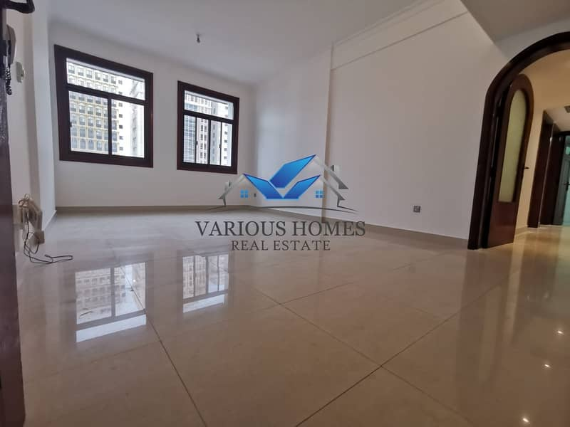 Elegant Quality 02 Bedroom Hall Apartment with Nice Wardrobes at Airport Road close Sheikh Khalifa Medical Center