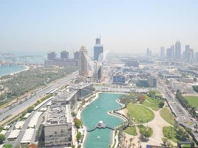 شقة 3 غرف نوم للبيع في دبي مارينا، دبي - Designer Unit | Furnished | 2 Parking | Lake View